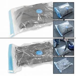 Housse Vetement Sous Vide : lot 15 sacs housse rangement sous vide air aspirateur ~ Melissatoandfro.com Idées de Décoration