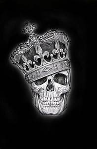 Gothic Skull Designs 4 95 Gbp Framed Print Skull Of A King Wearing His
