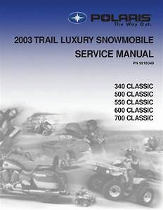 2003 Polaris 700 Classic Edge Snowmobile Service Repair Manual