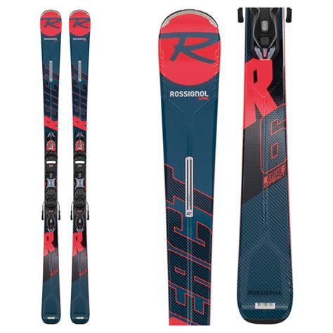 rossignol rossignol react  compact skis  xpress  gw  blkred bindings