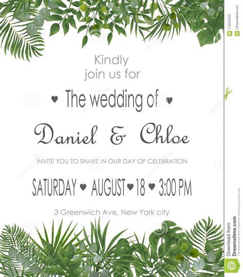 Wedding Invitation Rsvp Modern Card Design Vector