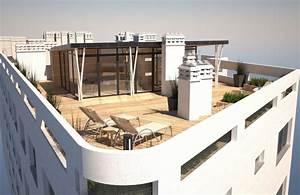 amenagement d39un toit terrasse avec surelevation a With faire une terrasse sur un toit