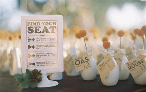 wedding series escort cards