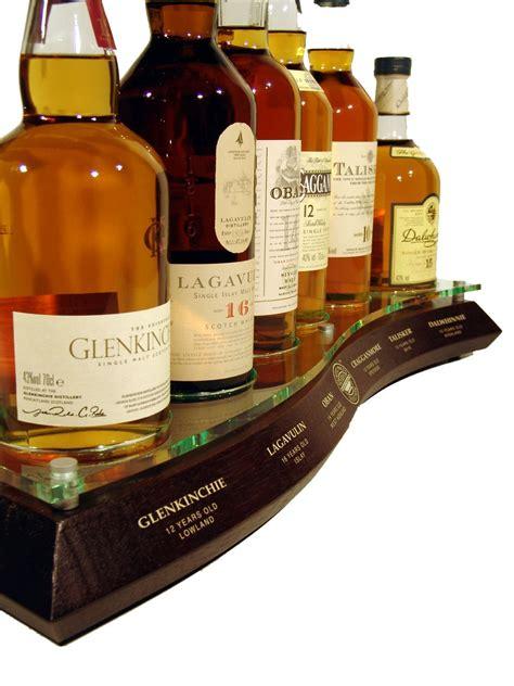 classic malts whisky bottle display  scottish scotch whisky
