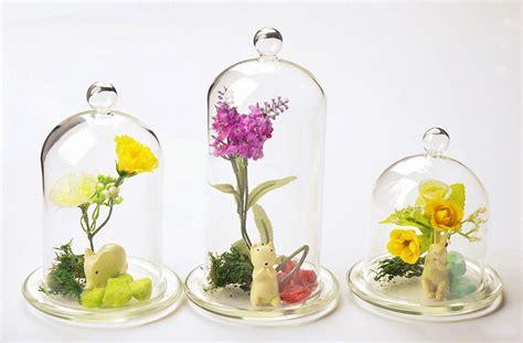 Home Decor Vases : Crystal Glass Cover Flower Vase Home Decor Hand Blown Diy