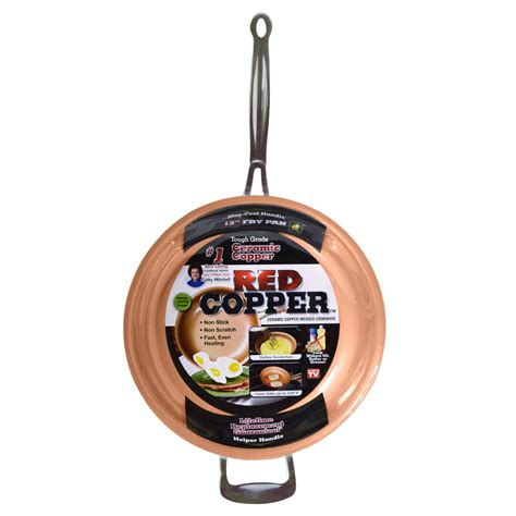 tv red copper  frying pan