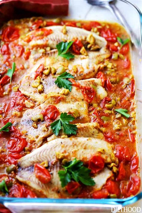 Mediterranean Style Baked Tilapia + How Do You Olive