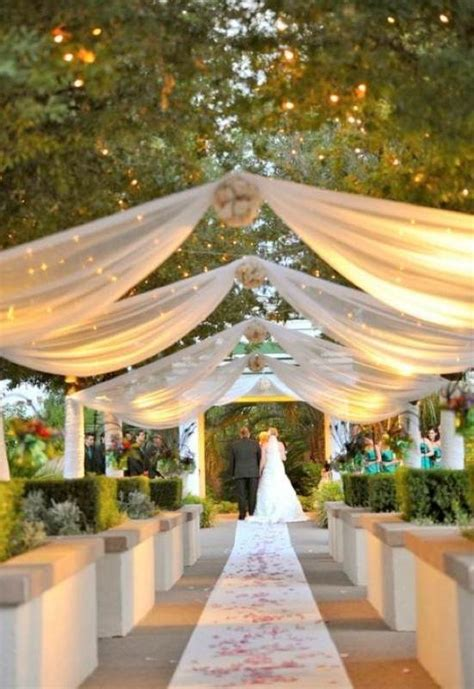outdoor reception ideas design with small ls for