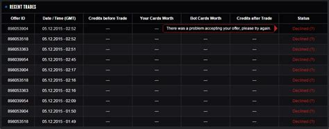Check spelling or type a new query. Steam Card Exchange Bot - Bug Reports :: CardTrades