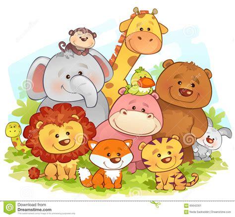 animali della giungla illustrazione vettoriale immagine 65642301
