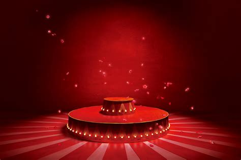 Circus Background Delicate Petals Circus Stage Lighting Background