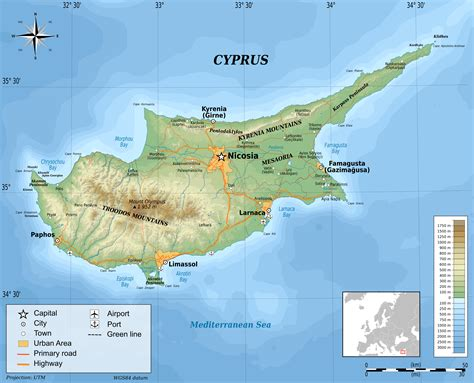 cyprus map  travel information   cyprus map