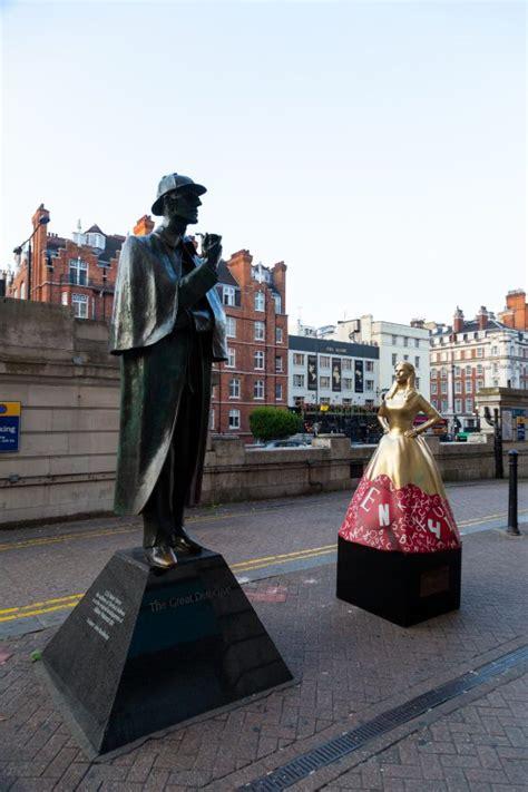 enola holmes netflix series pop statues london amongst ahead sisters brothers sister fieldmarketing sherlock celebrate
