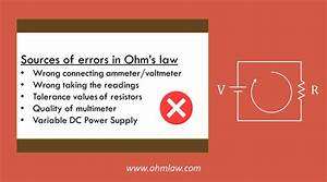 5 Error Sources In Ohm U0026 39 S Law Experiment  How To Avoid Them   U2022 Ohm Law