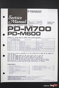 Pioneer Pd M600 Original Cd Player Service Manual