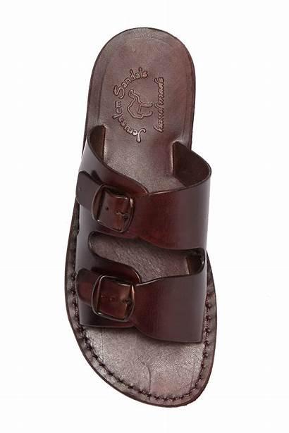 Sandals Jerusalem Sandal Barnabas Brown Leather