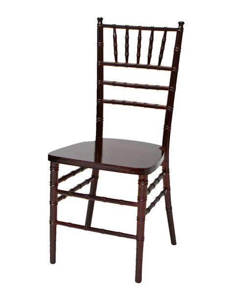 resin mahogany chiavari chairs settings event rental wedding and event rental for every