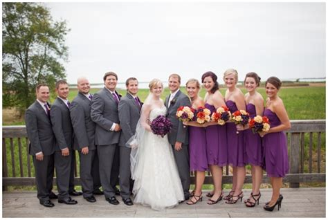 Fall Wedding With Purple Details