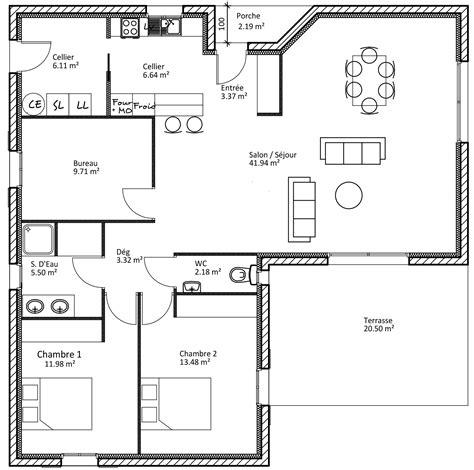 plan d une maison en l