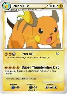 Pokémon Raichu ex 53 53 - Iron tail - My Pokemon Card