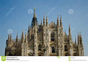 Milan Cathedral stock photo. Image of building, facade ...