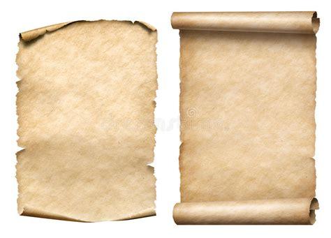 vecchio insieme di carta dell illustrazione delle pergamene o dei rotoli 3d immagine stock