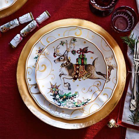 twas  night  christmas dinner plates santa williams sonoma