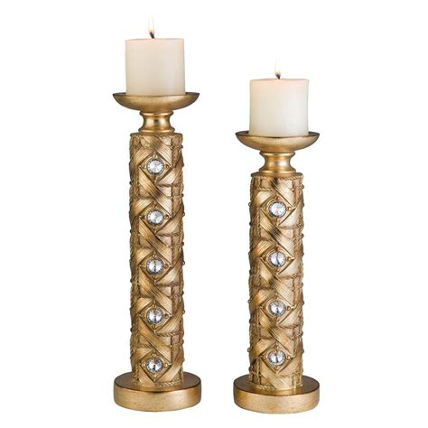 kmart furniture kitchen table ore international 14 in and 16 in gold mahla candle