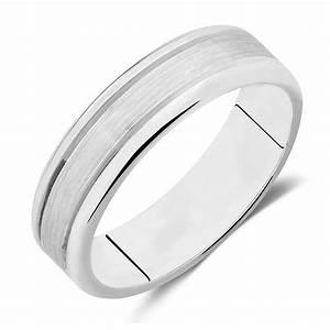 Men39s Wedding Band In 10kt White Gold