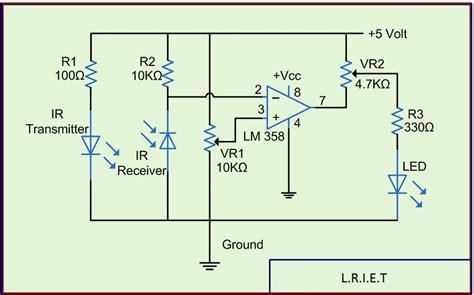ir sensor circuit  working  applications