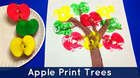 apple print trees preschool and kindergarten project 825 | maxresdefault