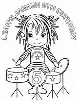 Coloring Rock Star Pages Rockstar Printable Birthday Personalized Party Favor Childrens Getcolorings Favorites sketch template