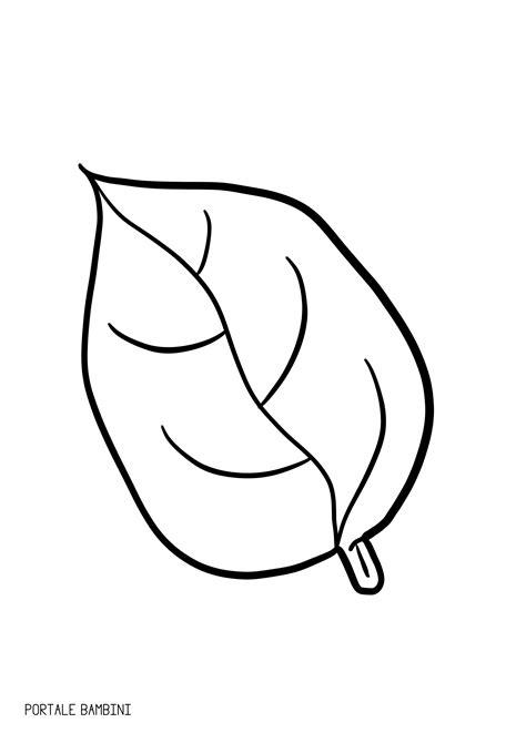 immagini da ricopiare per bambini foglie da colorare portale bambini