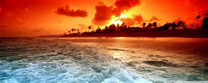 Sunset Tropical Beach Wallpapers Desktop Ultra Dual
