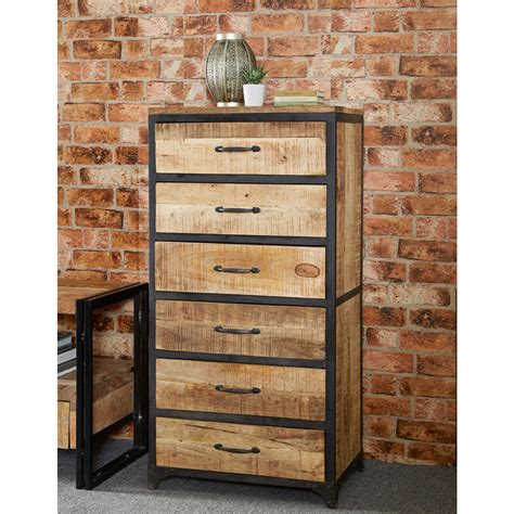 industrial style dresser upcycled industrial vintage mintis chest of drawers
