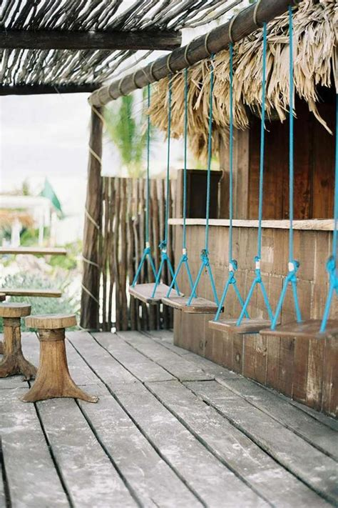 bar dinspiration exotique en bois restaurant en plein