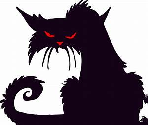 Scary Cat Clipart - ClipartXtras