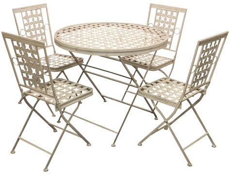 woodside folding metal outdoor garden patio dining table