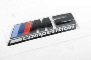 genuine bmw m2 competition label black emblem rear trunk