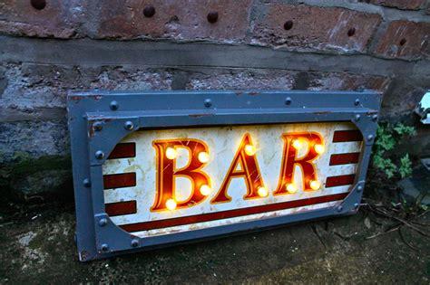 illuminated nostalgia bar wall sign vintage light up