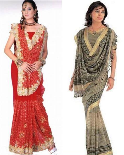 Traditional Saree Draping Styles - sare draping style draping designs saree