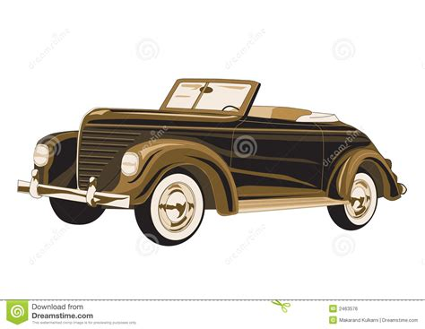 Antique Car Poster Royalty Free Stock Image