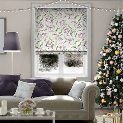 Christmas Blinds 2go Direct Lilac Tulips Dancing