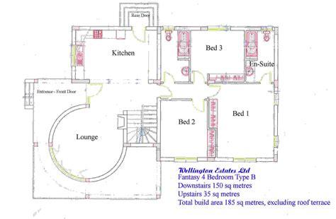4 Bedroom House Plans 4 Bedroom Bungalow Floor Plan, Best