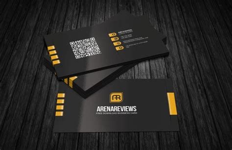 modern corporate black business card