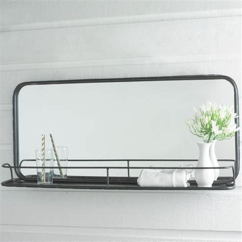 industrial bathroom mirror with shelf 25 best ideas about mirror with shelf on