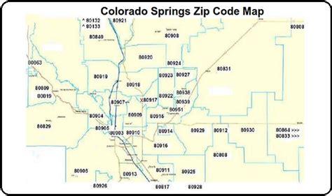 Garden Of The Gods Sacramento Zip Code by Colorado Springs Zip Code Map Notary Colorado Springs