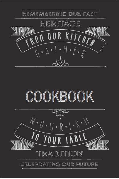 cookbook cover template atheritagecookbookcom