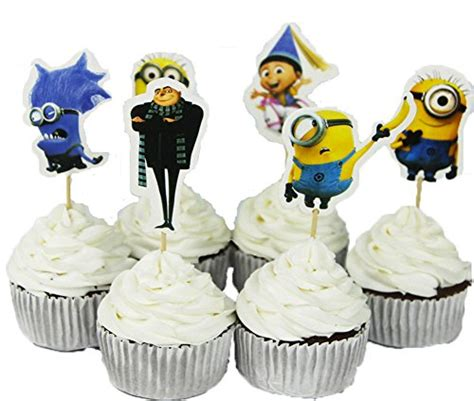 minions cake  cupcake toppers personalised birthdays grue despicable