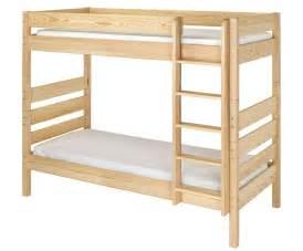 lit superposé avec bureau pack lit superposé brut à peindre 90x190 cm avec 2